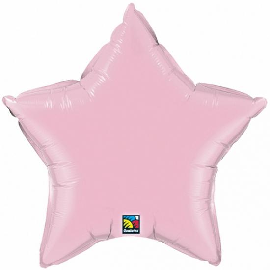 Folie ballon lichtroze ster 50 cm