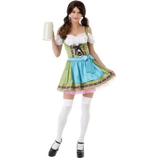 Groen Oktoberfest jurkje dirndl kostuum voor dames