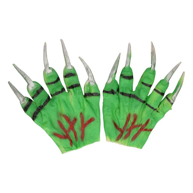Groene monster handschoenen