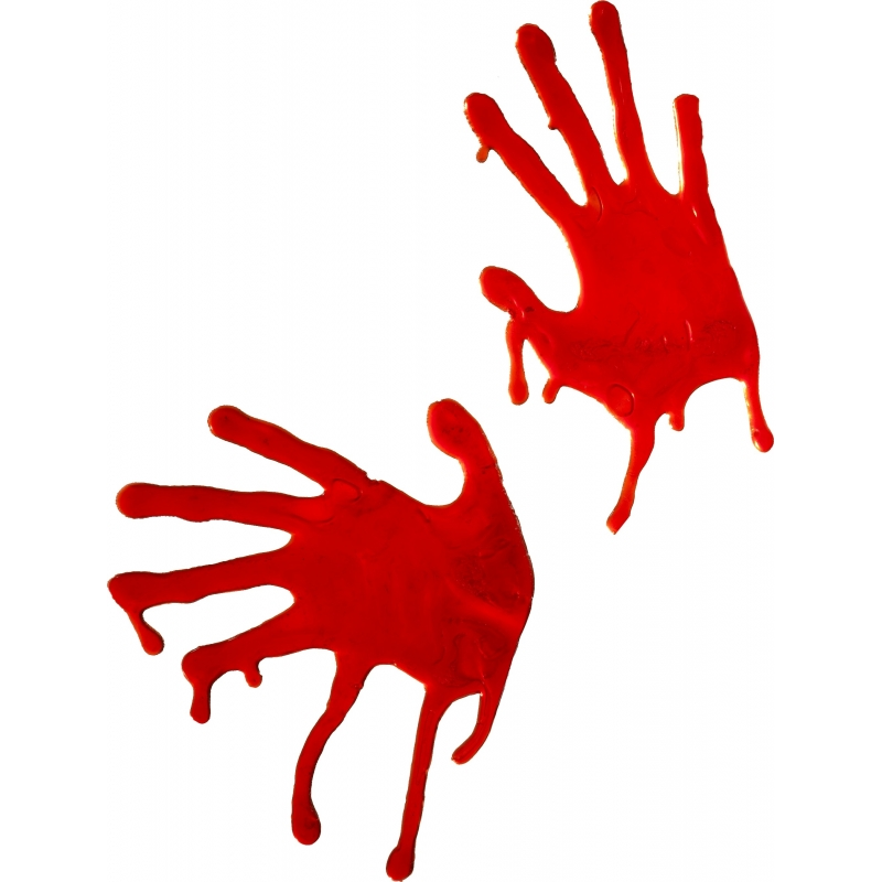 Halloween Bloedige handafdrukken