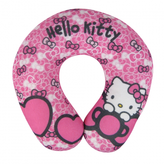 Hello Kitty reis nekkussen roze