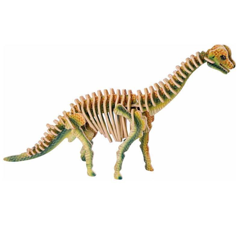 Houten 3D puzzel Brachiosaurus