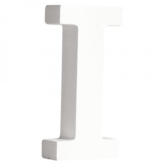 Houten letter I 11 cm