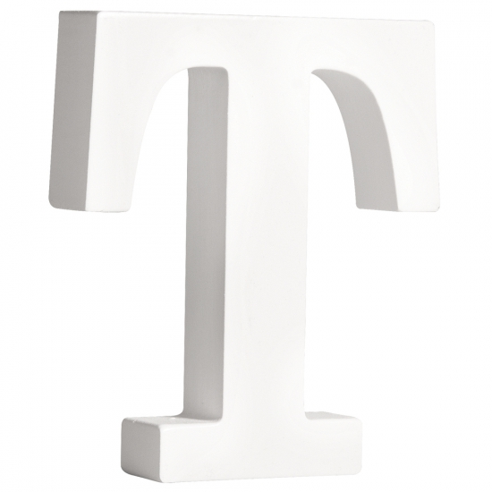 Houten letter T 11 cm