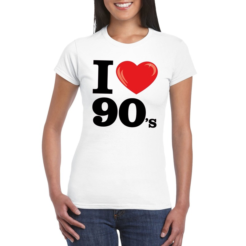 I love nineties t shirt wit dames
