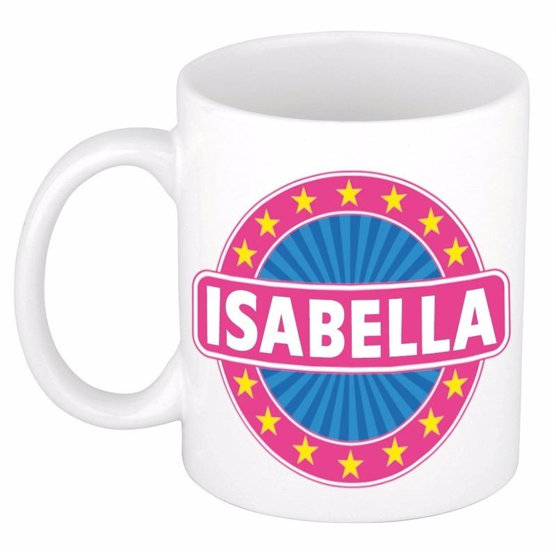 Isabella naam koffie mok beker 300 ml