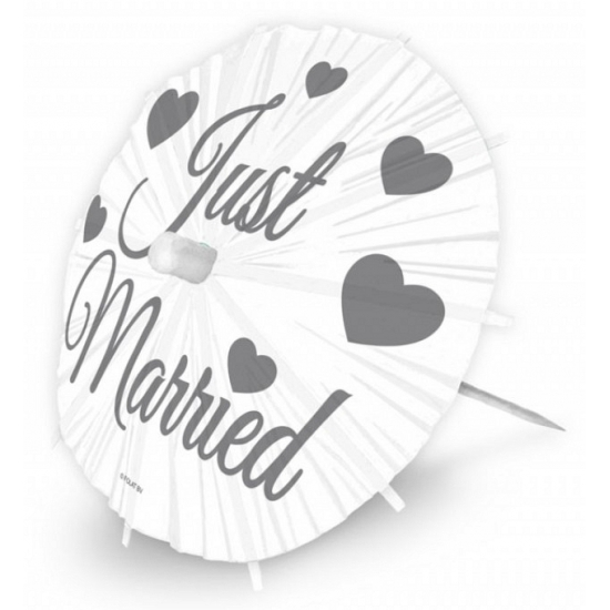 Just Married parasol prikkers XL