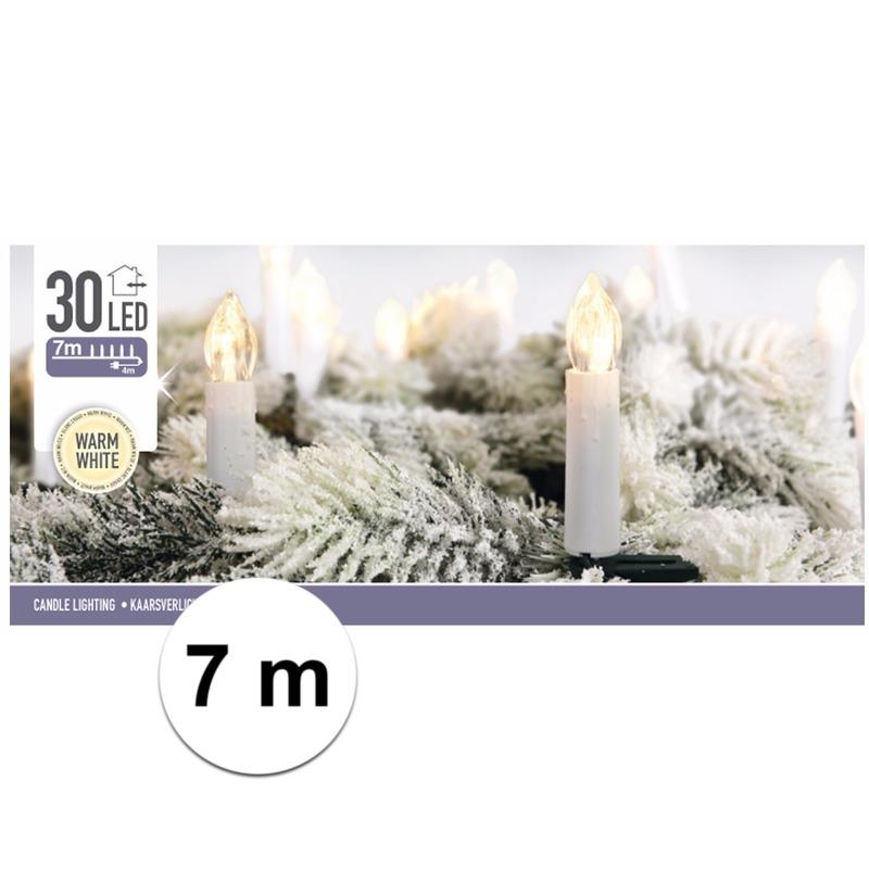 Kaarsen verlichting warm wit binnen 30 lampjes