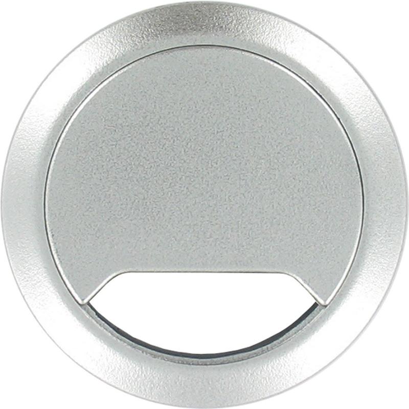 Kabeldoorvoer aluminium zilver 60 mm
