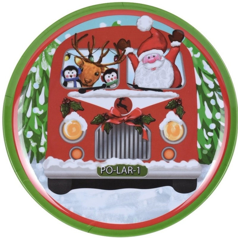 Kerst bord bus 25 cm