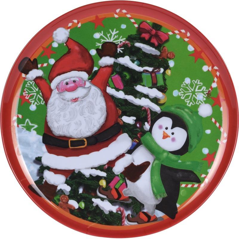 Kerst bord Kerstman 25 cm