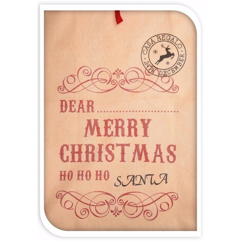 Kerst cadeauzak ho ho ho jute 100 cm