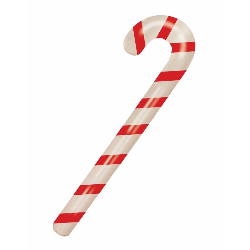 Kerst opblaasbare snoepstok 90 cm