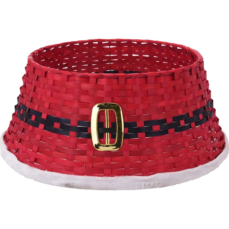 Kerstboom rok-hoes-mand rood 54 cm