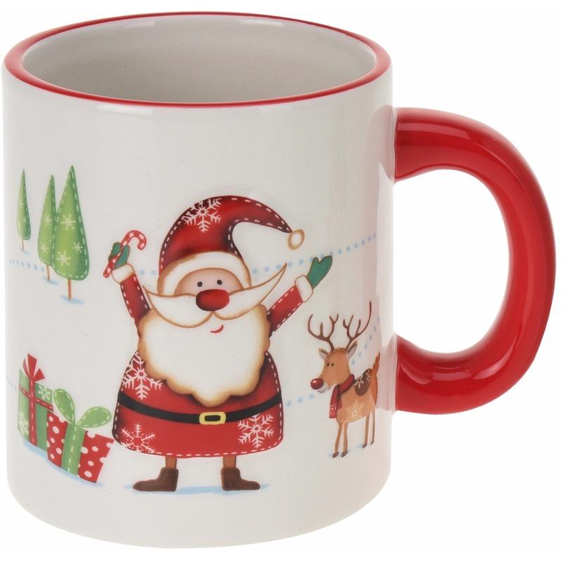 Kerstmok Kerstman opdruk 300 ml