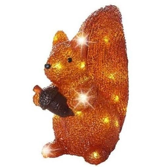 Kerstverlichting LED figuren voor buiten eekhoorn 27 cm