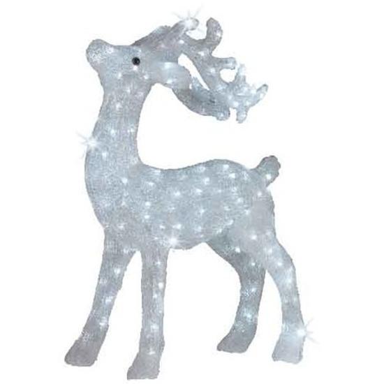 Kerstverlichting LED figuren voor buiten rendier wit 73 cm