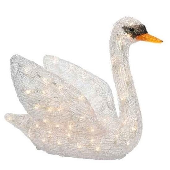 Kerstverlichting LED figuren voor buiten zwaan 49 cm