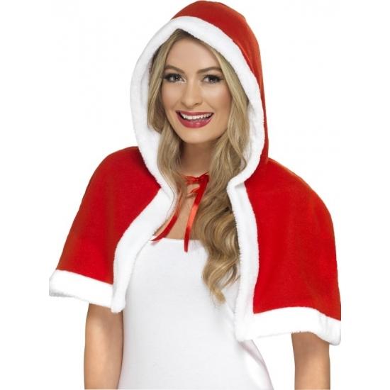 Kerstvrouw cape rood