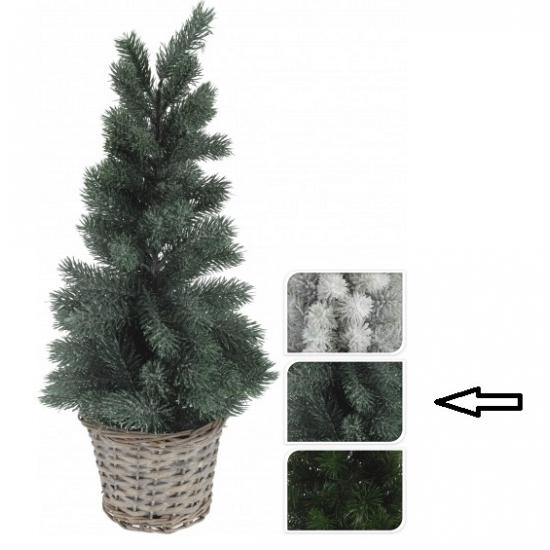 Kleine kerstboom groen in mand 60 cm