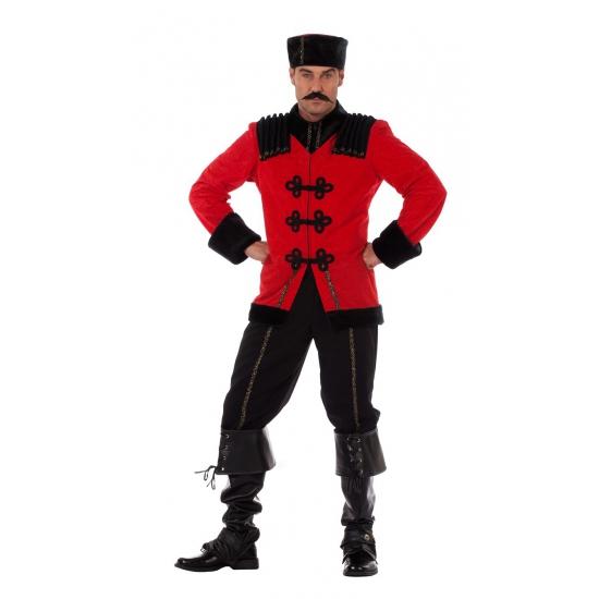 Luxe kozak heren kostuum. dit luxe kozak kostuum voor heren bestaat uit een broek, jas en muts.