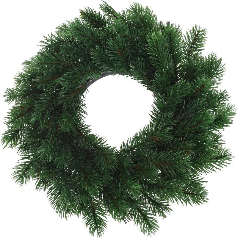 Kunst kerstkrans groen 35 cm