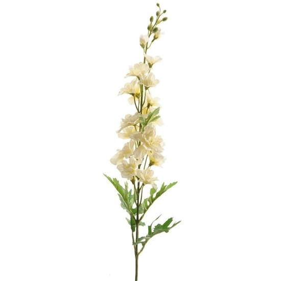 Kunstbloemen-planten Ridderspoor takken 70 cm wit