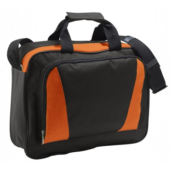 Laptop tas oranje-zwart 40 cm