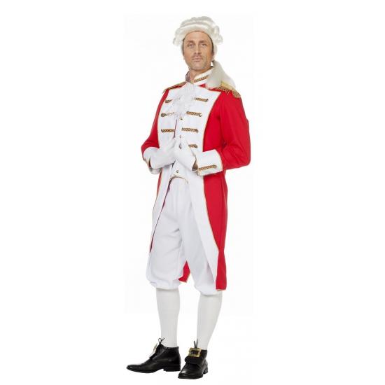 Luxe garde kostuum. mooie rood witte jas inclusief witte broek gemaakt van 100% polyester. ook zeer geschikt ...