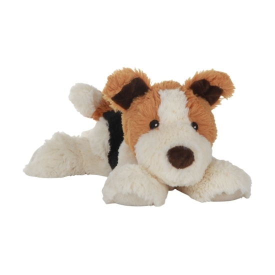 Magnetron warmte knuffel hond 18 cm