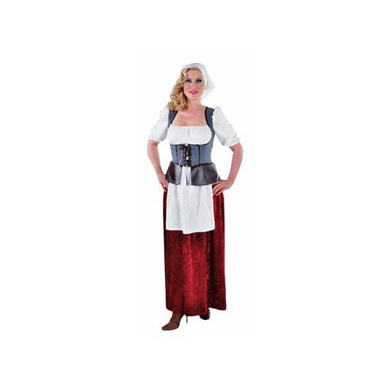 Middeleeuwse boerin kostuum voor dames