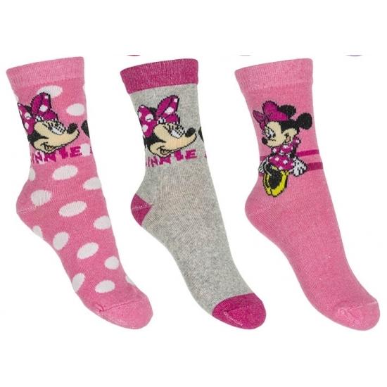 Minnie Mouse meisjes sokken 3 pak lichtroze Disney Beste koop