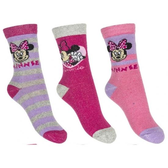 Sokken en Panty's Disney Minnie Mouse meisjes sokken 3 pak lila