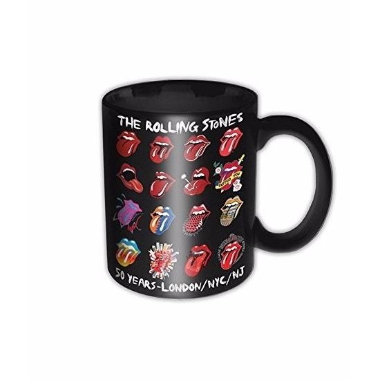 Geen Mok Rolling Stones 50 jaar zwart 325 ml Keuken