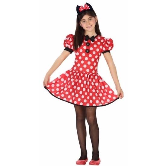 ba98d34af36d0e Muizen jurkje rood met stippen voor meisjes. deze muis verkleedset bestaat  uit een rood