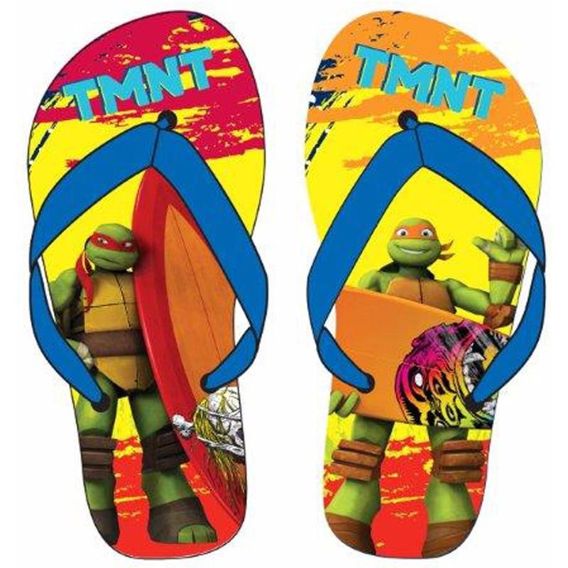 Ninja Turtles teenslippers rood oranje blauw voor kinderen