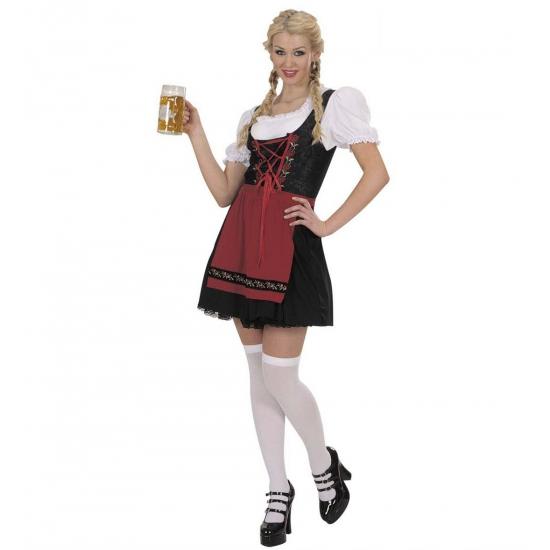 Oktoberfest - Dirndl oktoberfest jurk voor dames zwart