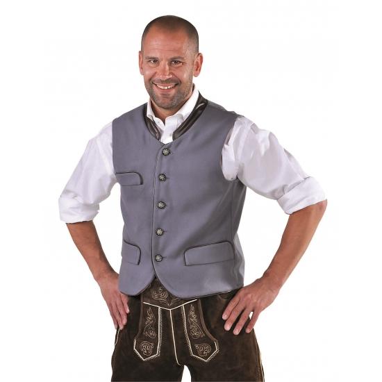 Oktoberfest Duitse verkleedkleding gilet grijs