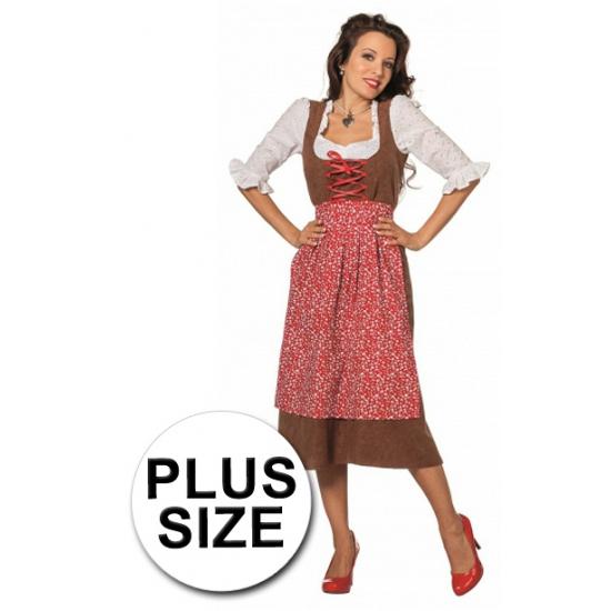 Oktoberfest - Grote maat lange tiroler jurk