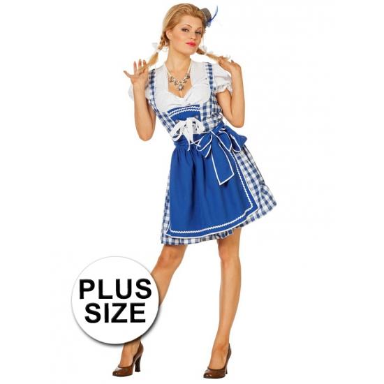 Oktoberfest Grote maten Oktoberfest jurk blauw