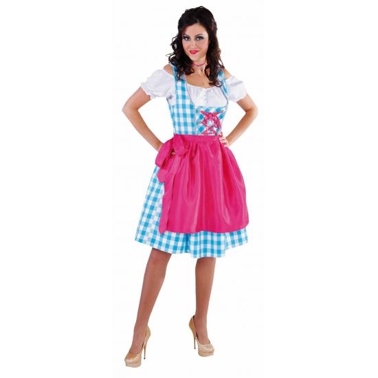 Oktoberfest Luxe dirndl blauw voor dames