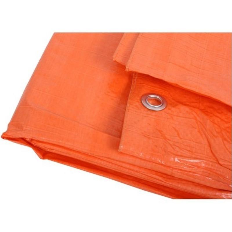 Oranje afdekzeil-dekzeil 3 x 4 meter