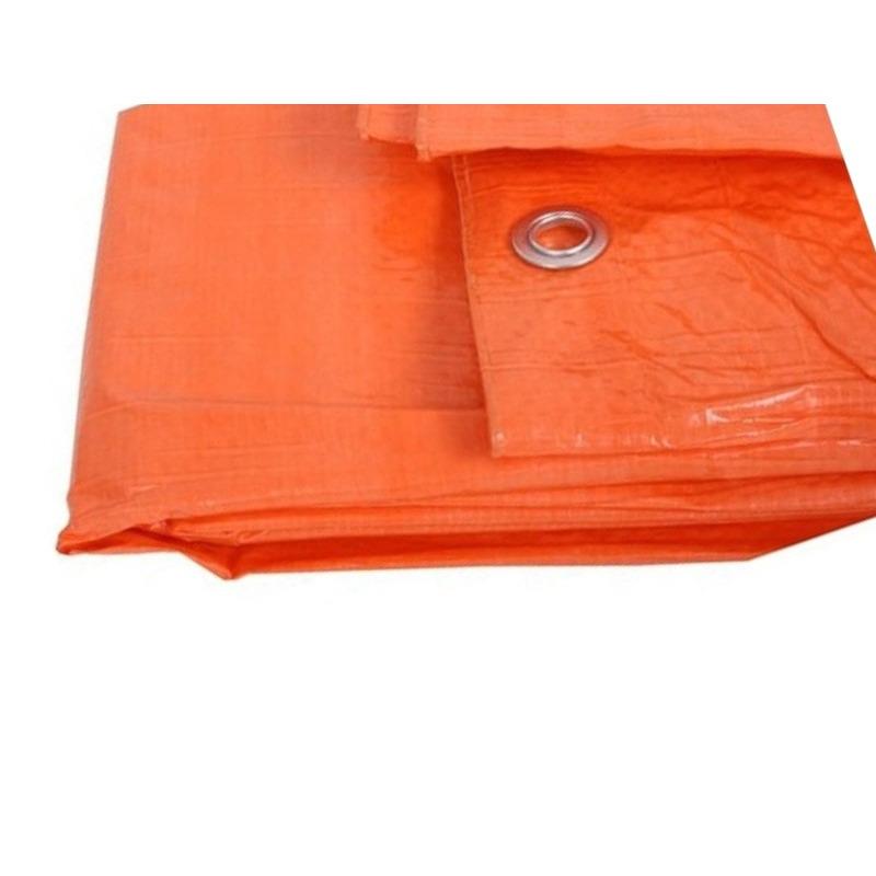 Oranje afdekzeil-dekzeil 3.9 x 4.9 meter