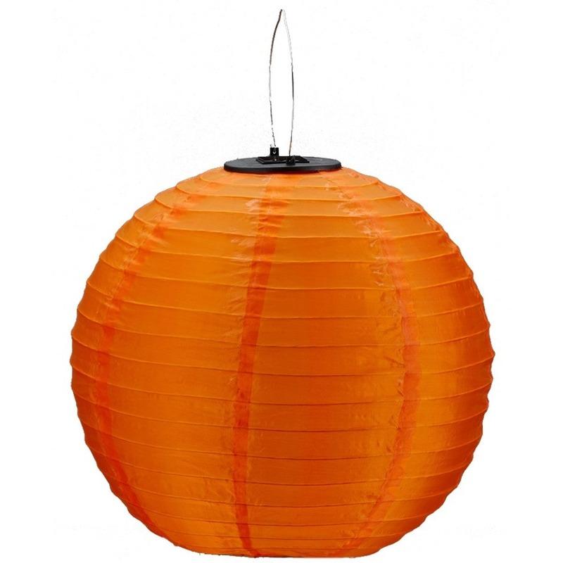 Oranje solar party lampionnen 30 cm