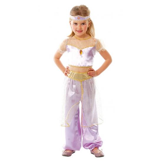 Paars arabische prinses kostuum voor meisjes. paarse arabische prinses kostuum inclusief hoofdband. ...