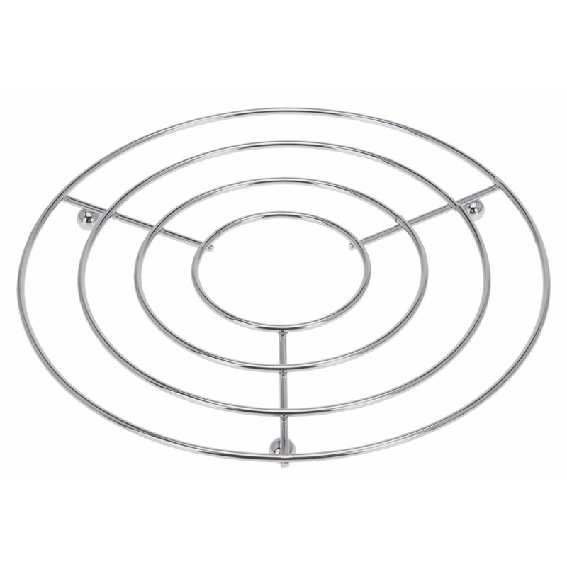 Pannenonderzetters rond RVS 24 x 19 cm