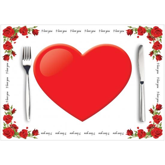 Papieren placemats liefde 10 stuks