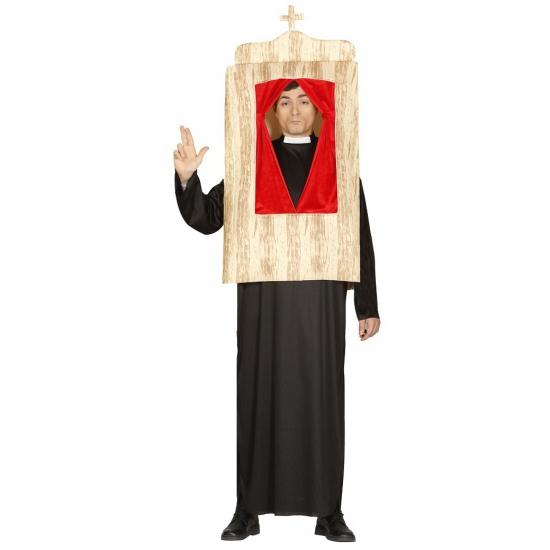 Pastoor met biechtstoel kostuum. dit grappige kostuum bestaat uit een tuniek en een biechtstoel.een ideaal ...