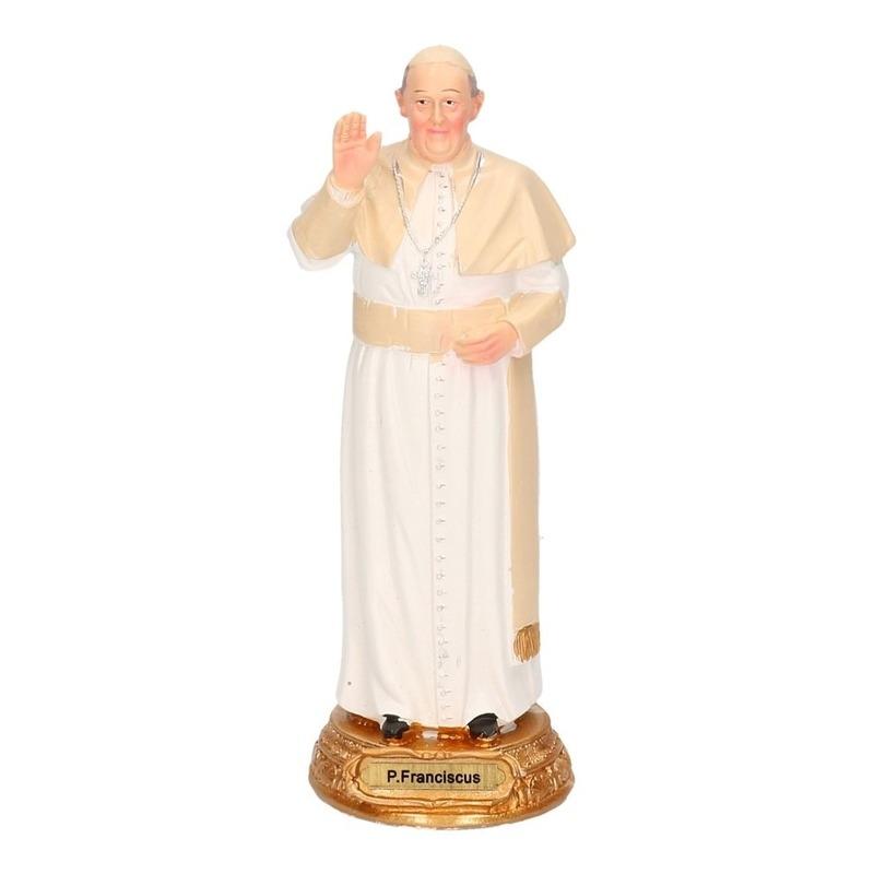 Paus Franciscus decoratie beeldje 15 cm