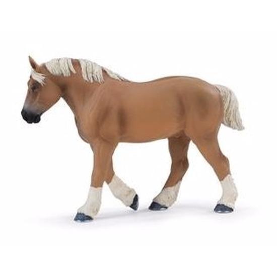 Plastic Belgisch trekpaard hengst 13 cm